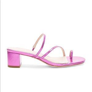 Raye Sandal in Metallic Pink
